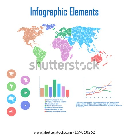 Colorful infographic elements - stock vector