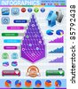 Colorful infographic vector collection - stock photo