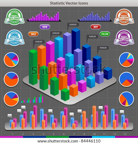 Colorful infographic vector collection - stock vector