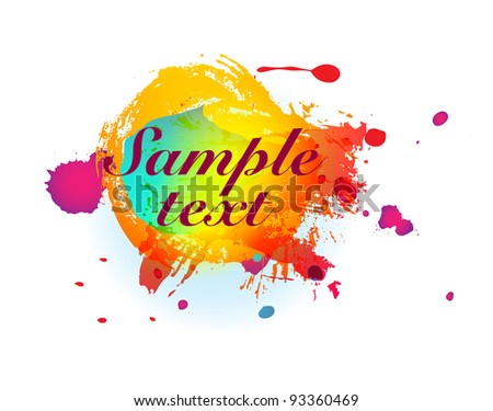 Colorful ink blots on white - stock vector