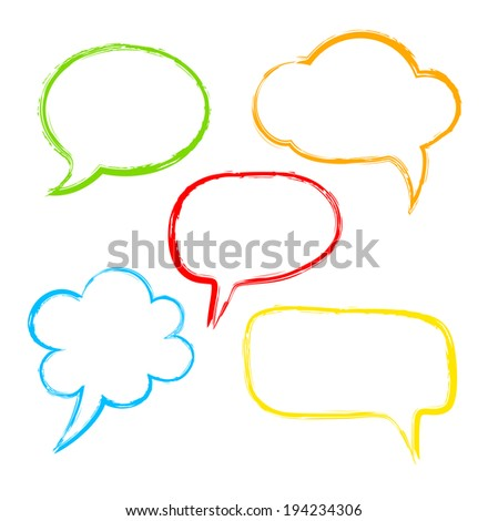 Colorful ink speech bubble