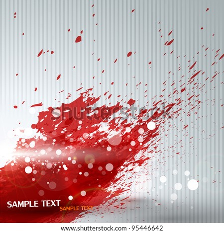 Colorful ink splashes - stock vector