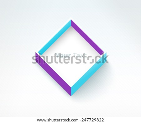 Colorful Isometric Modern  Abstract Vector Frame Element For Your Design  - stock vector