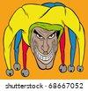 colorful Joker - stock vector
