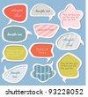 Colorful labels / speech bubbles set - stock vector