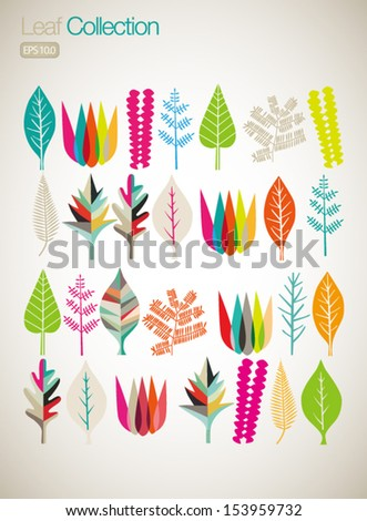 Colorful Leaves - stock vector