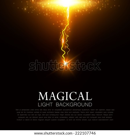 Colorful lightning.  Vector illustration - stock vector