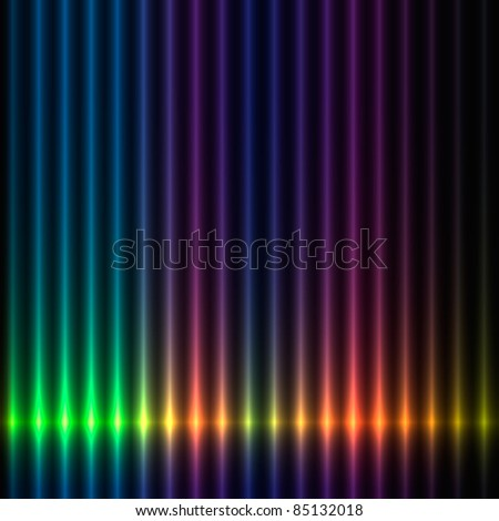 Colorful lights background - stock vector