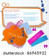 Colorful little notes with space for text - stock vector