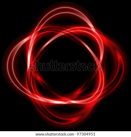 Colorful logo. Bright red shapes. Eps 10 vector - stock vector