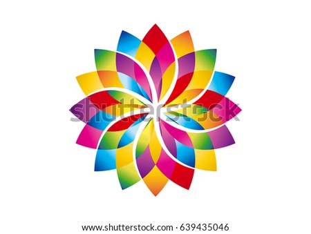 Colorful Lotus Flower Vector