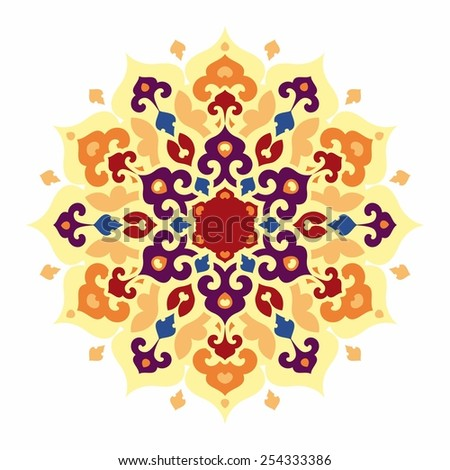 Colorful mandala. Islam, Arabic, Asian ornamental motifs - stock vector