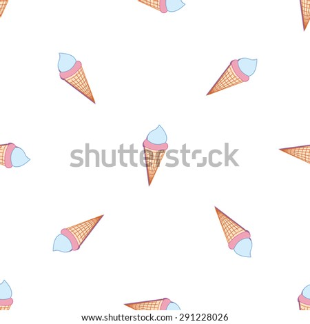 Colorful melting ice-cream seamless pattern. eps 10 - stock vector