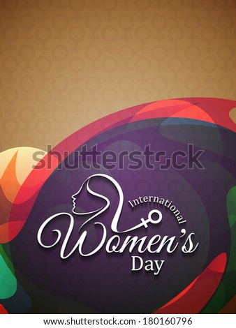 Colorful modern background design for International Women's Day. vector illustration - stock vector