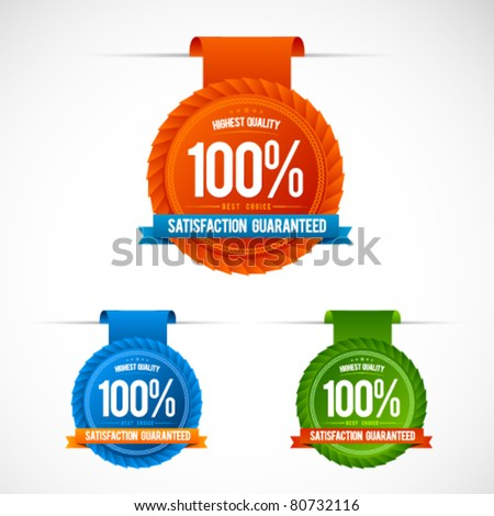 Colorful modern badge collection - stock vector