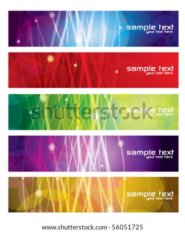 Colorful Modern Banner Set