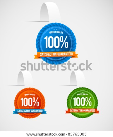 Colorful modern hanging label collection - stock vector