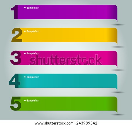 colorful modern text box template for website computer graphic technology and internet, numbers. speech bubble - stock vector