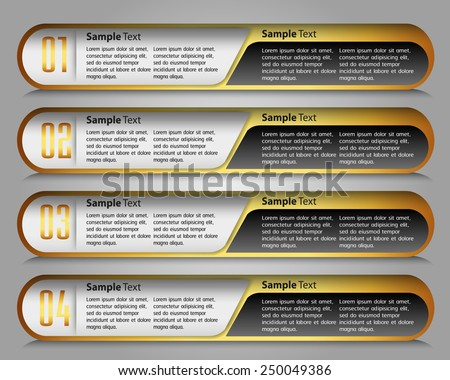 colorful modern text box template for website computer graphic technology and internet, numbers - stock vector