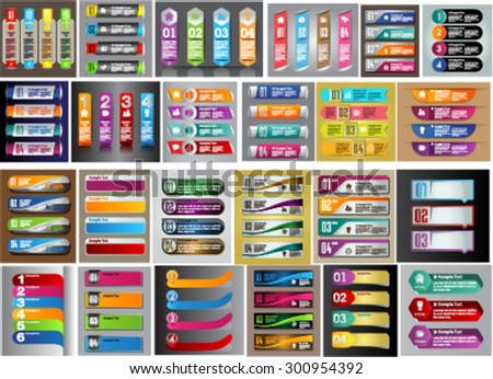 colorful modern text box template for website computer graphic technology and internet, numbers. Set of color frames for text or quotes. brochure. many, various.infographics - stock vector