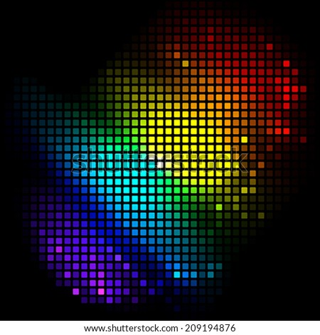 colorful mosaic - stock vector