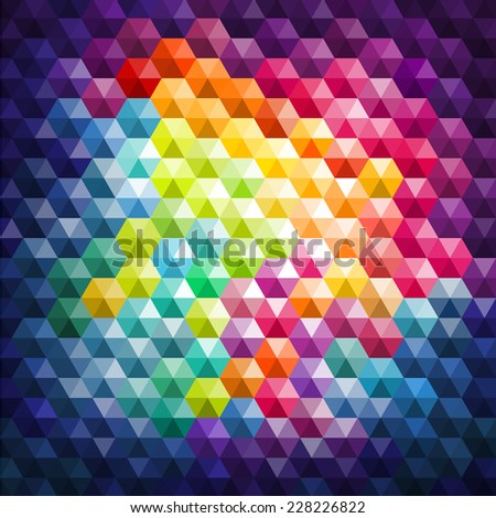 Colorful Mosaic Background, vector eps 10 illustration - stock vector