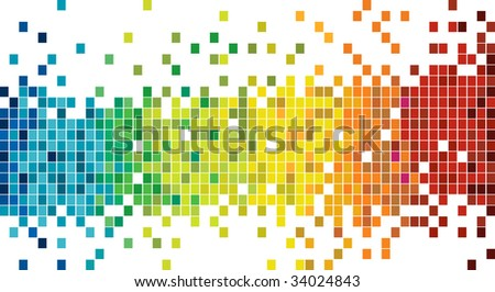 colorful mosaic pattern - stock vector