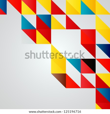 Colorful Mosaic Vector Background | EPS10 Illustration - stock vector
