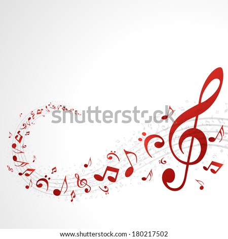 Colorful music background with notes. Vector background.  - stock vector