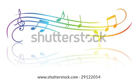 Colorful music theme - stock vector