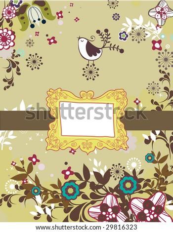 colorful nature design - stock vector