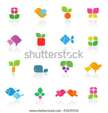 Colorful nature. Elements for design. Vector illustration. - stock vector