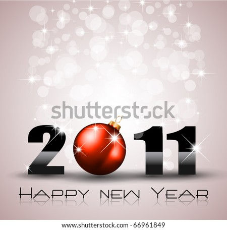 Colorful New Year Celebration Background with Glitter and Rainbow Colours - stock vector