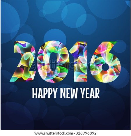 Colorful 2016 New Years Abstract Background  - stock vector