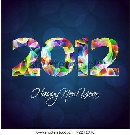 Colorful 2012 New Years Abstract Background