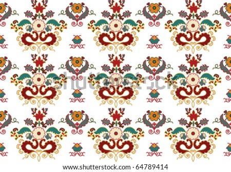 Colorful ornament. - stock vector