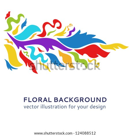 Colorful ornamental background. Vector illustration for your art design. Postcard picture in bright color. Easy to change color.