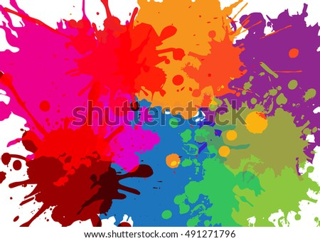 paint vector abstract splatter paint color design background stock vector