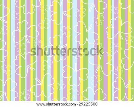 colorful panel lines background with clover, vector wallpaper - stock vector