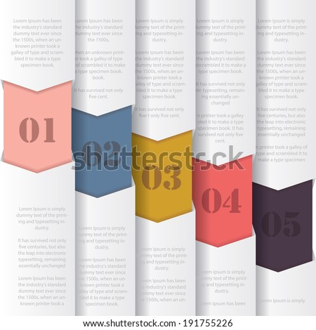 Colorful paper numbered banners