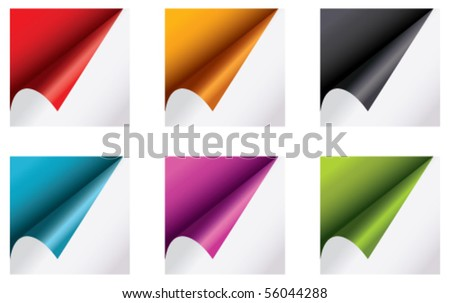 colorful papers - stock vector