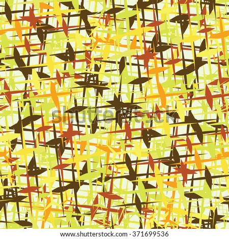 Colorful party camouflage, seamless pattern, vector - stock vector