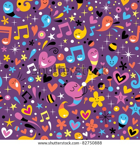 colorful party fun pattern