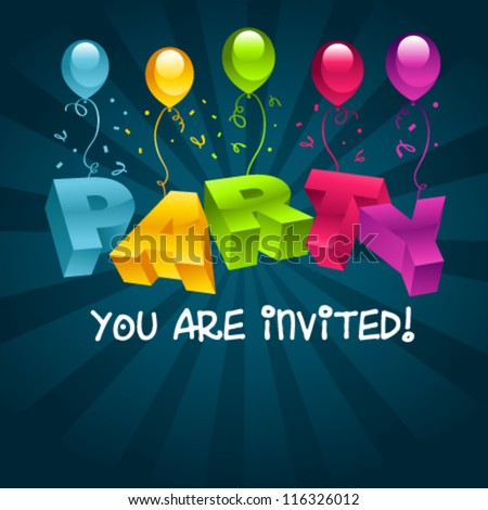 Colorful party invitation card stock vector 116326012 shutterstock colorful party invitation card stopboris Images