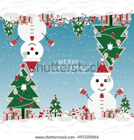 Colorful Pattern with Christmas Elements.Vector Background.  Pattern can be used for wallpaper, cover fills, web page background, surface textures. Vector linen texture.