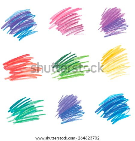 Colorful pencil drawing. Vector version of raster image - stock vector