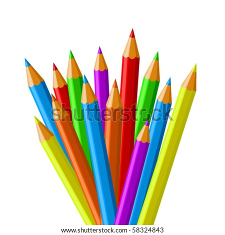 Colorful pencil vector collection - stock vector