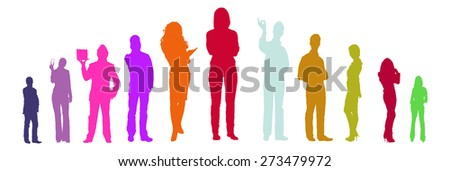 Colorful people - stock vector