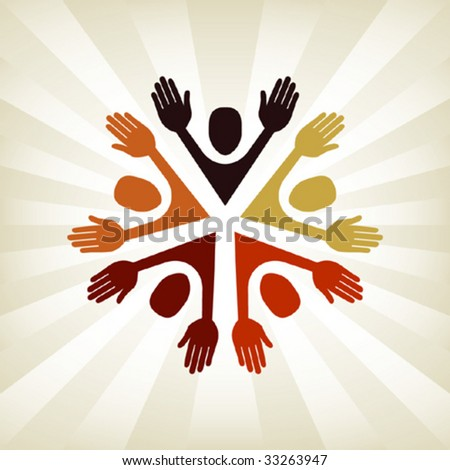 Colorful people vector. - stock vector