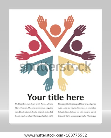 Colorful people with copy space.  - stock vector